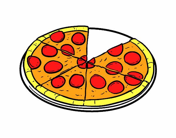Dibujo de Pizza italiana pintado por en Dibujosnet el da 1606