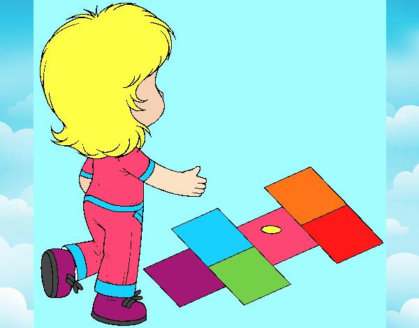 Rayuela Dibujo Para Colorear E Imprimir: Dibujo De Rayuela Pintado Por Josealej04 En Dibujos.net El