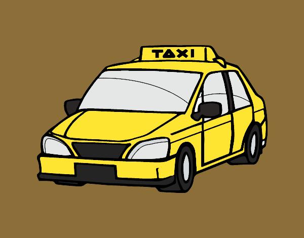 Dibujos de Taxis para Colorear  Dibujosnet