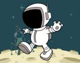 Dibujo Cosmonauta pintado por Yeric12