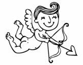 Cupido contento con flecha