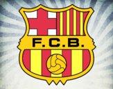 Dibujo Escudo del F.C. Barcelona pintado por neymarisma