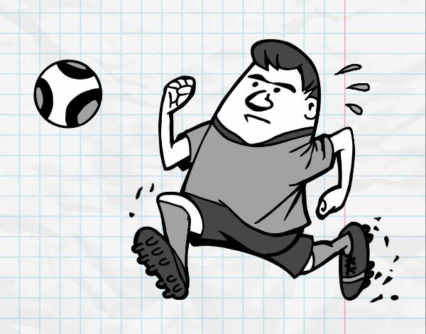 Dibujo De Jugador De Fútbol Con Balón Pintado Por Chicoxd: Dibujo De Jugador Rápido Pintado Por En Dibujos.net El