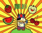 Dibujo Julio pintado por queyla