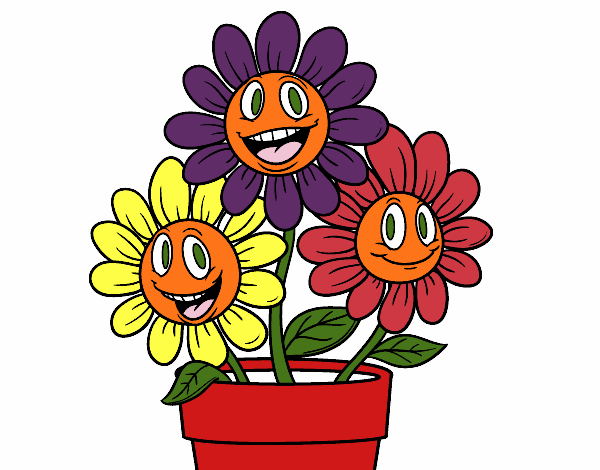 Macetas con flores animadas imagui for Imagenes de plantas en macetas