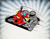 Dibujo Moto GP pintado por Plumas