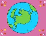 Dibujo Planeta Tierra pintado por milanyela