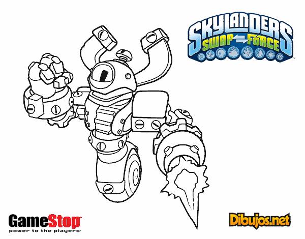 Dibujo de Skylanders Swap Force Magna Charge pintado por ...