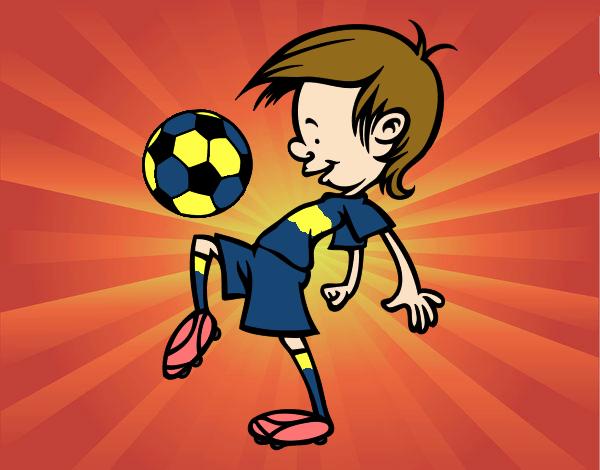 Dibujo De Jugador De Fútbol Con Balón Pintado Por Chicoxd: Dibujo De Toques Con El Balón Pintado Por En Dibujos.net