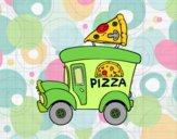 Dibujo Food truck de pizza pintado por More2019