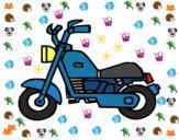 Dibujo Moto harley pintado por More2019