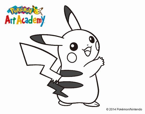 Dibujos Para Colorear Pikachu Pokemon: Dibujo De Pikachu De Espaldas Pintado Por En Dibujos.net