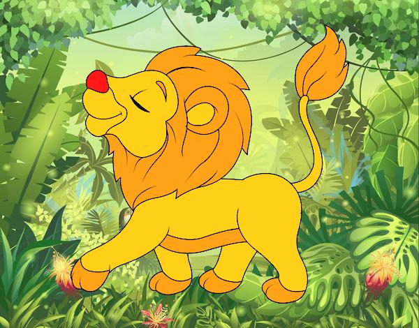 Dibujo De Cachorro De León Para Colorear: Dibujo De Cachorro De León Pintado Por Lizcabaest En