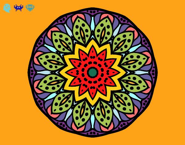 Dibujo de Mandala naturaleza pintado por Angolico en Dibujosnet