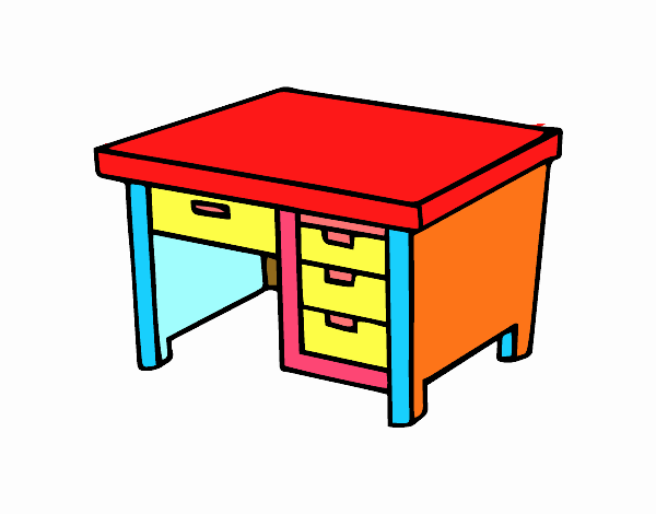Image gallery dibujo escritorio for Mesa escritorio infantil