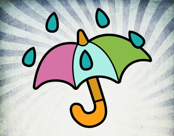 Dibujos De Paraguas Para Colorear E Imprimir: Dibujo De Paraguas Abierto Pintado Por En Dibujos.net El