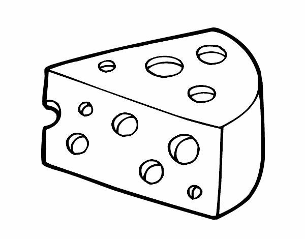 dibujos para colorear queso
