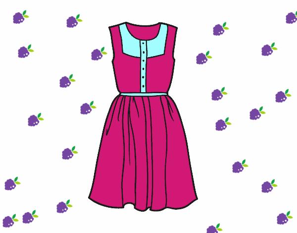 Dibujo De Vestido Veraniego Pintado Por Modakawaii En