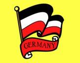 Dibujo Bandera de Alemania pintado por bufalogris