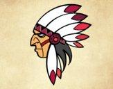 Dibujo Cara del indio jefe pintado por mario2