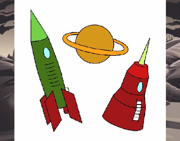 Cohete De Espacio De Dibujos: Dibujo De Cohete Pintado Por En Dibujos.net El Día 25-07