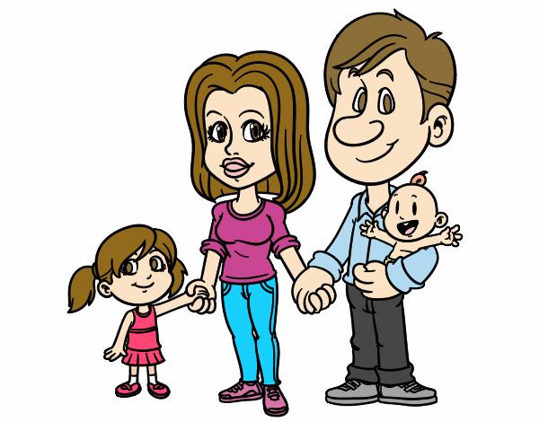Dibujo de Familia feliz pintado por Claauu en Dibujosnet el da