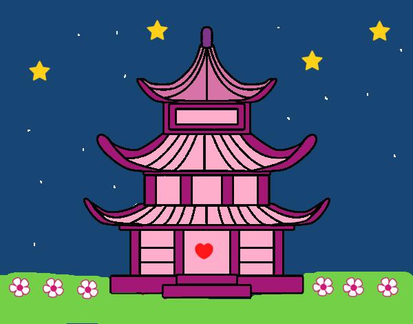 Dibujo de casa tradicional japonesa pintado por lunalunita - Casa tradicional japonesa ...