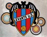Dibujo Escudo del Levante UD pintado por joswar