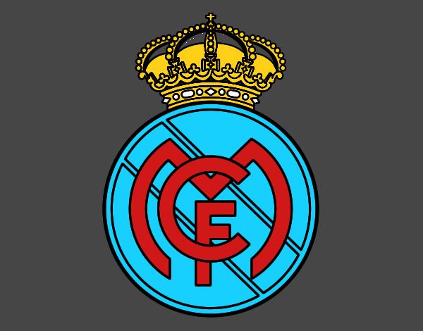 Dibujos Para Colorear Del Real Madrid Para Imprimir: Dibujo De Escudo Del Real Madrid C F Para Colorear Dibujo