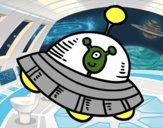 Dibujo Extraterrestre en nave espacial pintado por josue15