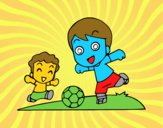 Fútbol en el recreo
