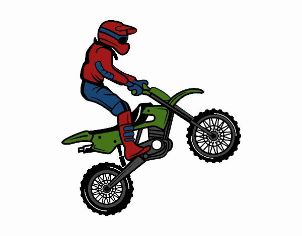 Dibujo de Moto de trial pintado por en Dibujosnet el da 270715