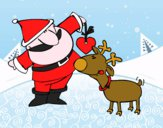 Papá Noel y Rudolf