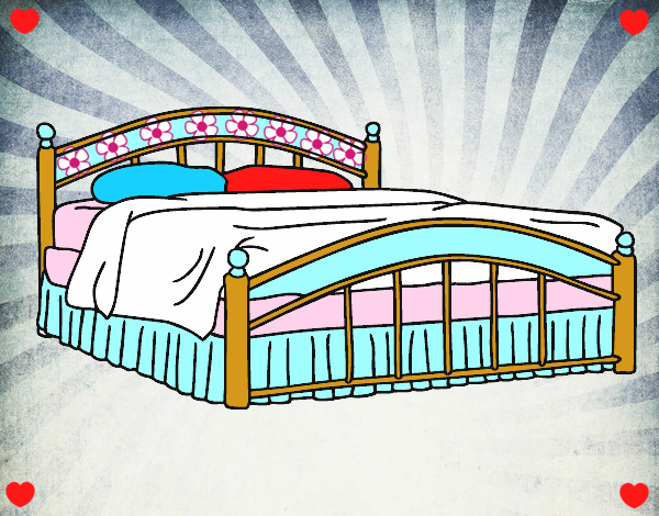 Dibujo de cama de matrimonio pintado por arody en dibujos for La cama de matrimonio