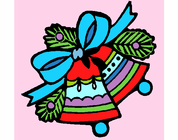Dibujo de campanas de navidad 1 pintado por asas en - Dibujos navidad en color ...