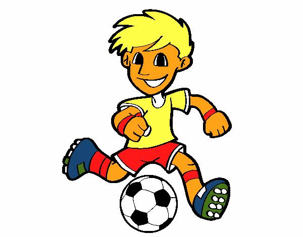 Dibujo De Futbol Pintado Por Maarta En Dibujos Net El Día: Dibujo De Jugador De Fútbol Con Balón Pintado Por En