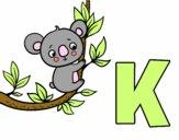 Dibujo K de Koala pintado por Aiyan