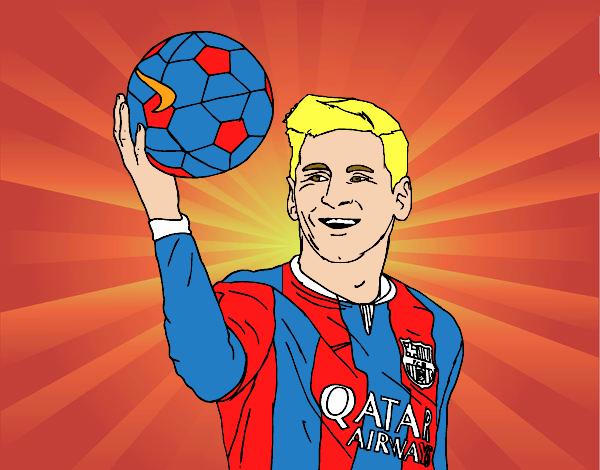 Worksheet. Dibujo de Lionel Messi pintado por en Dibujosnet el da 060815