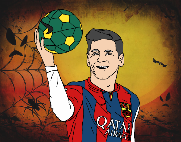 Dibujo de Lionel Messi pintado por en Dibujosnet el da 080815