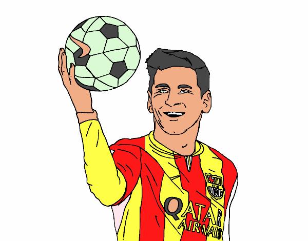 Dibujo de Lionel Messi pintado por en Dibujos.net el día ...