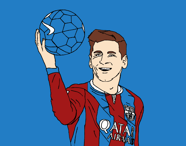 Dibujo de Lionel Messi pintado por en Dibujosnet el da 090815
