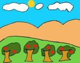 Dibujo Paisaje con montañas pintado por LunaLunita
