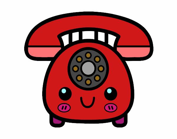 Dibujo de dibujo de un telefono de casa pintado por en for La mansion casa hotel telefono