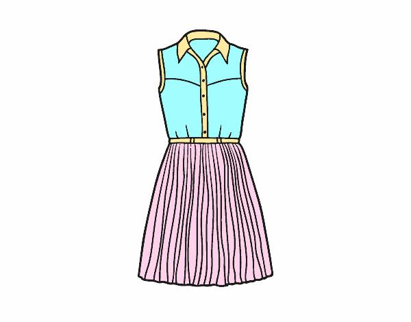 Dibujo De Vestido Tejano Pintado Por Briju En Dibujos.net