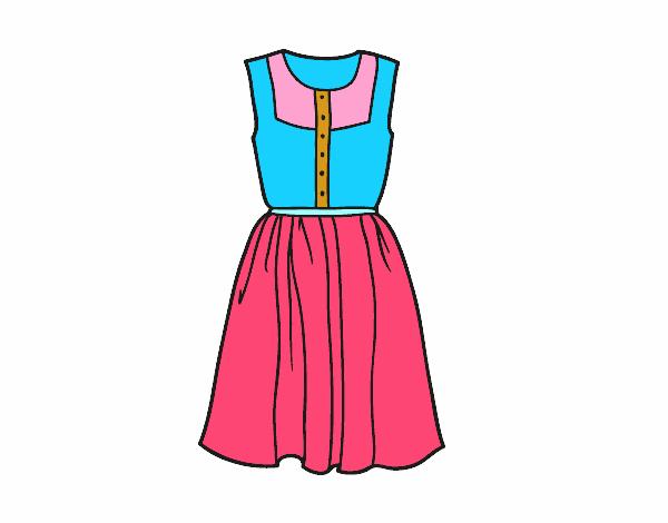Dibujo De Vestido Veraniego Pintado Por En Dibujos.net El