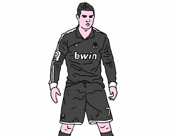 Dibujo de Cristiano Ronaldo Real Madrid pintado por en ...