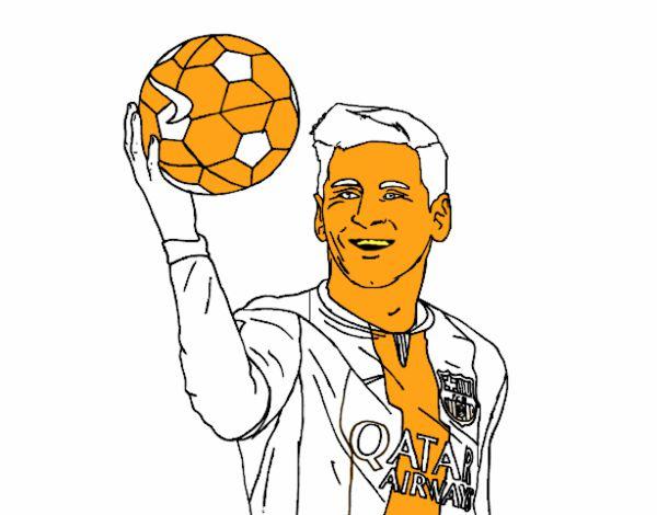 Worksheet. Dibujo de Lionel Messi pintado por en Dibujosnet el da 100815