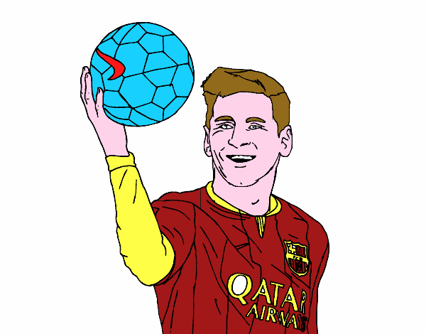 Dibujo de Lionel Messi pintado por en Dibujosnet el da 100815