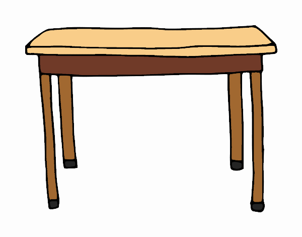 Dibujo de mesa rectangular pintado por en el - Mesa de dibujo portatil ...