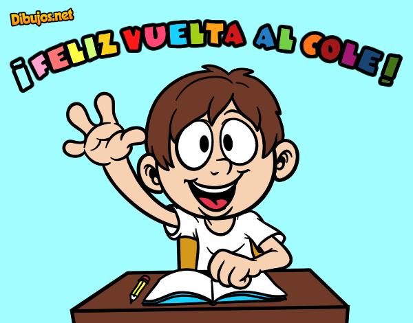 Colorear Vuelta Al Cole 15: Dibujo De Feliz Vuelta Al Cole Pintado Por Ilvanys En